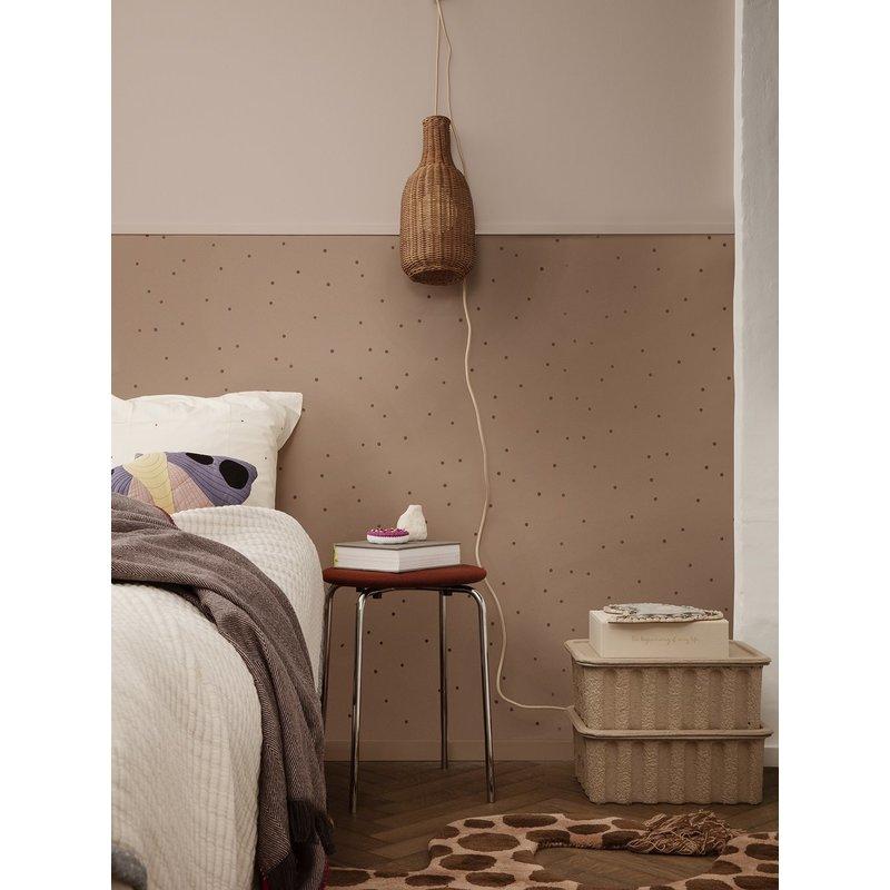 ferm LIVING-collectie Dot Wallpaper - Dusty Rose