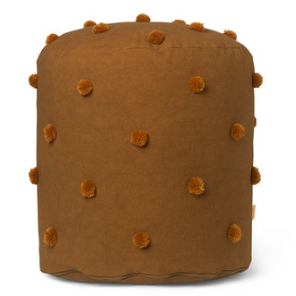 ferm LIVING Dot Tufted Pouf - Sugar Kelp Mustard