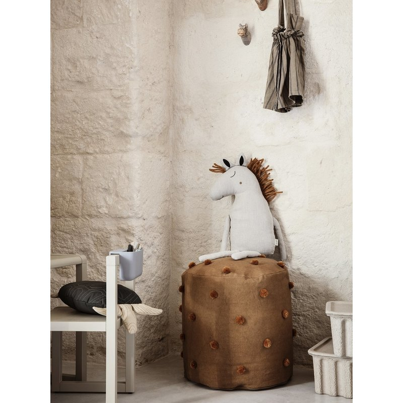 ferm LIVING-collectie Dot Tufted poef - Sugar Kelp Mosterd