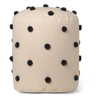 ferm LIVING Dot Tufted Pouf - Sand Black
