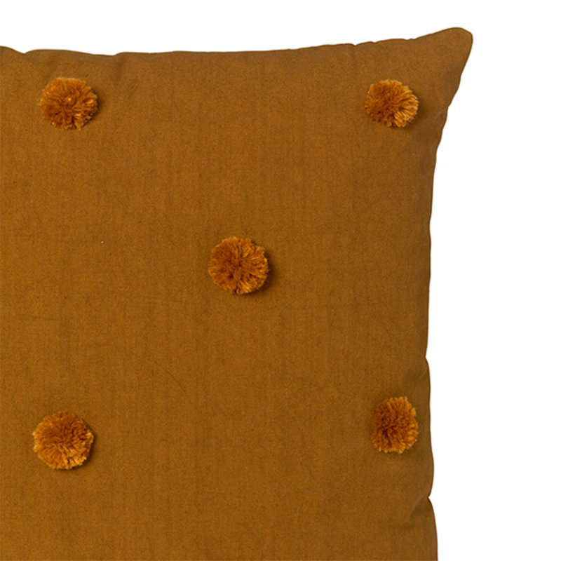 ferm LIVING-collectie Dot Tufted kussen - Sugar Kelp Mosterd