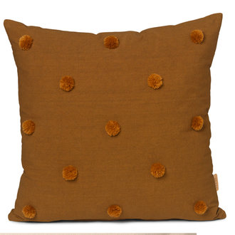 ferm LIVING Dot Tufted kussen - Sugar Kelp Mosterd