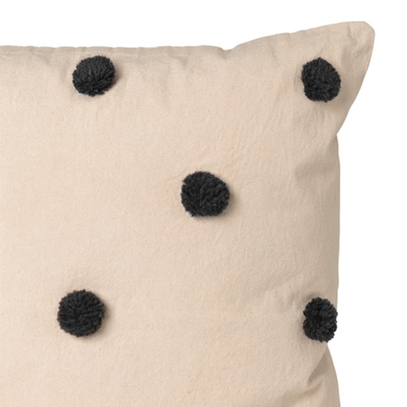 ferm LIVING-collectie Dot Tufted Cushion - Sand Black