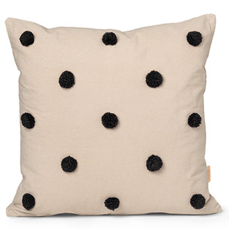 ferm LIVING Dot Tufted Cushion - Sand Black