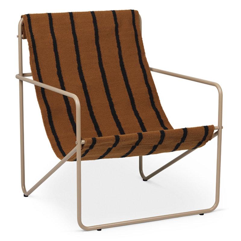 ferm LIVING-collectie Desert Chair - Cashmere/Stripe