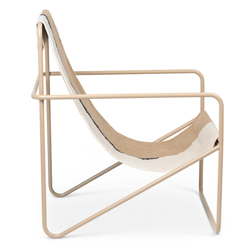 ferm LIVING-collectie Desert Chair - Cashmere/Soil