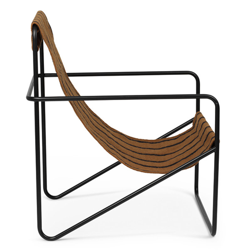 ferm LIVING-collectie Desert Chair - zwart/Stripe