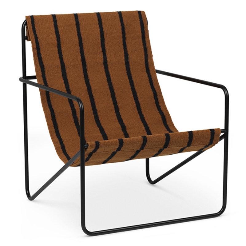 ferm LIVING-collectie Desert Chair - Black/Stripe