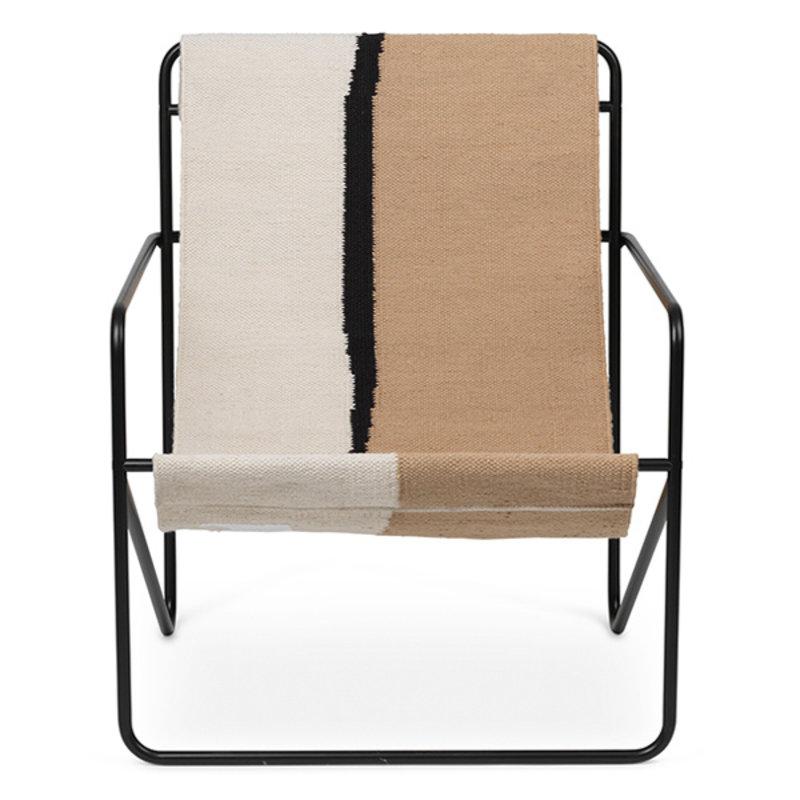 ferm LIVING-collectie Desert Chair - Black/Soil