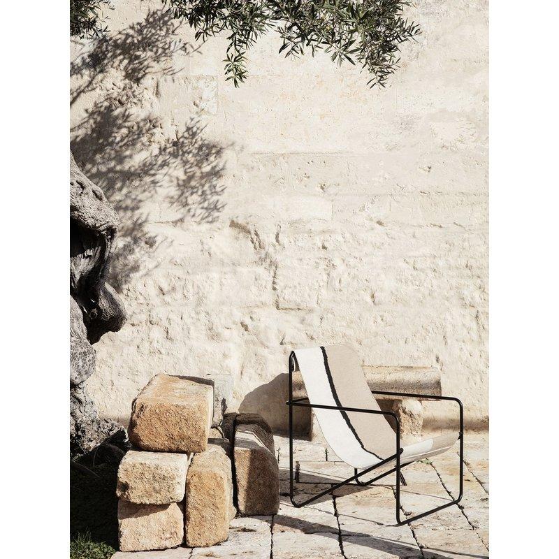 ferm LIVING-collectie Desert Chair - zwart/Soil