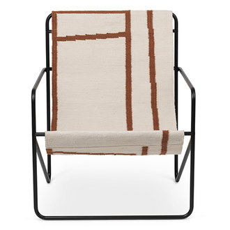 ferm LIVING Desert Chair - zwart/Shape