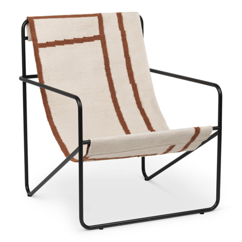 ferm LIVING-collectie Desert Chair - zwart/Shape