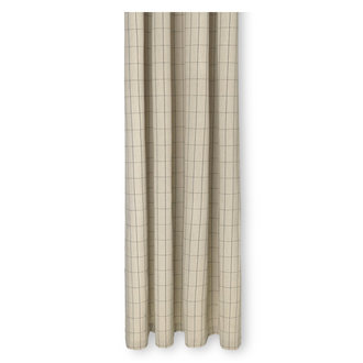 ferm LIVING Chambray douchegordijn Grid  zand