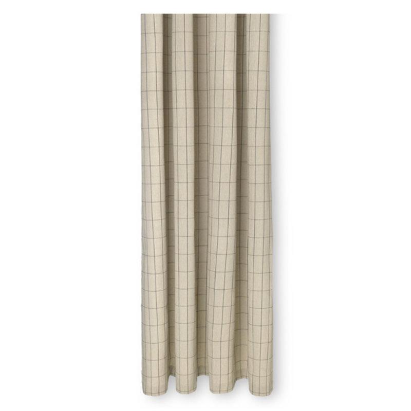 ferm LIVING-collectie Chambray douchegordijn Grid  zand