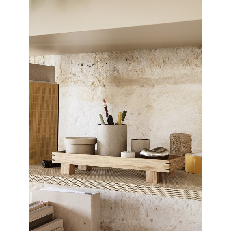 ferm LIVING-collectie Bon Wooden Tray - X Small - Oak