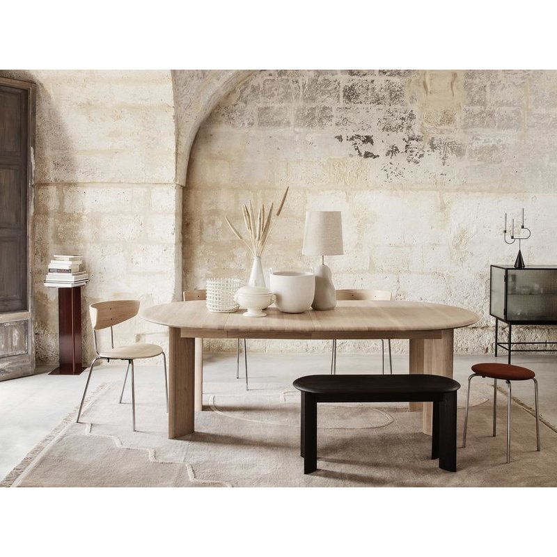 ferm LIVING-collectie Bevel Table Extendable x 2 - White Oiled