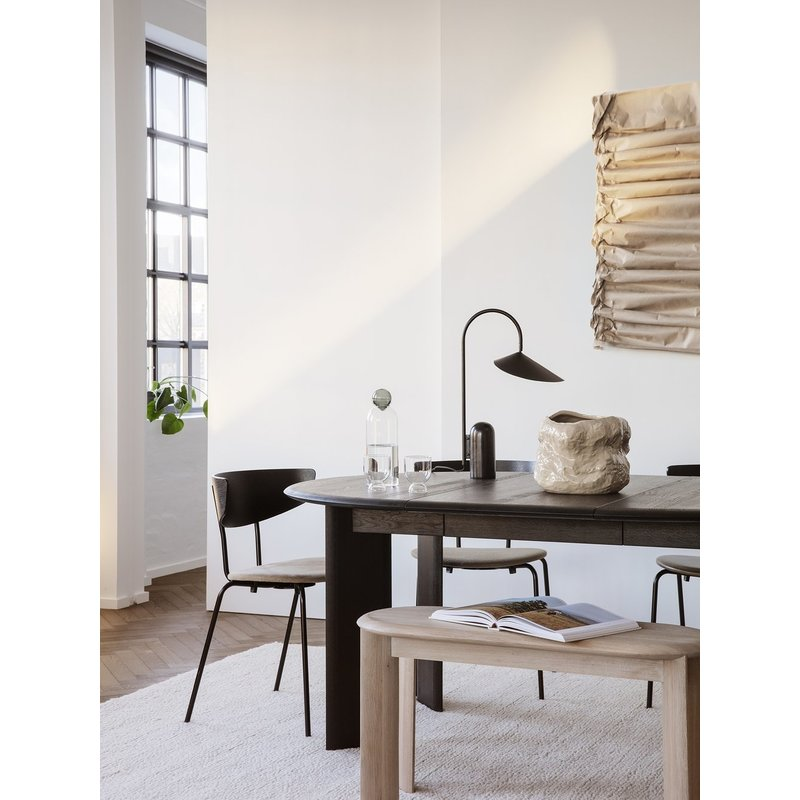 ferm LIVING-collectie Bevel Table Extendable x 2 - Black Oiled
