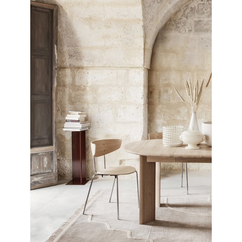 ferm LIVING-collectie Bevel Table Extendable x 1 - White Oiled
