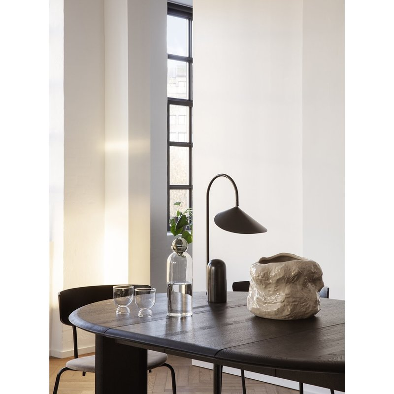 ferm LIVING-collectie Bevel Table Extendable x 1 - Black Oiled