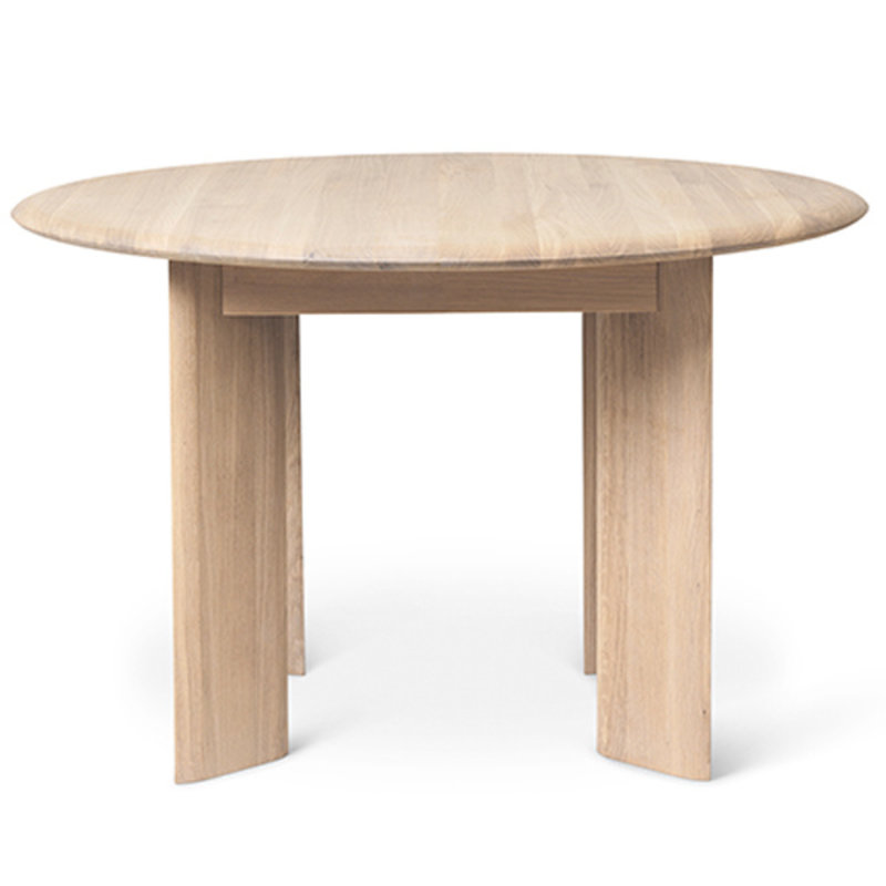 ferm LIVING-collectie Tafel Bevel rond Ø117 wit geolied