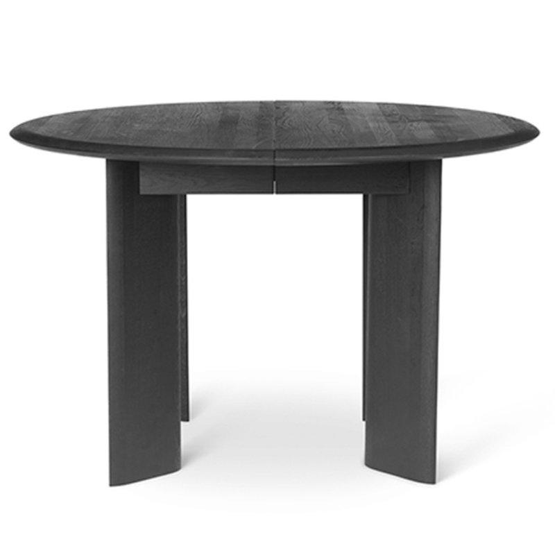 ferm LIVING-collectie Tafel Bevel - rond Ø117 - zwart geolied