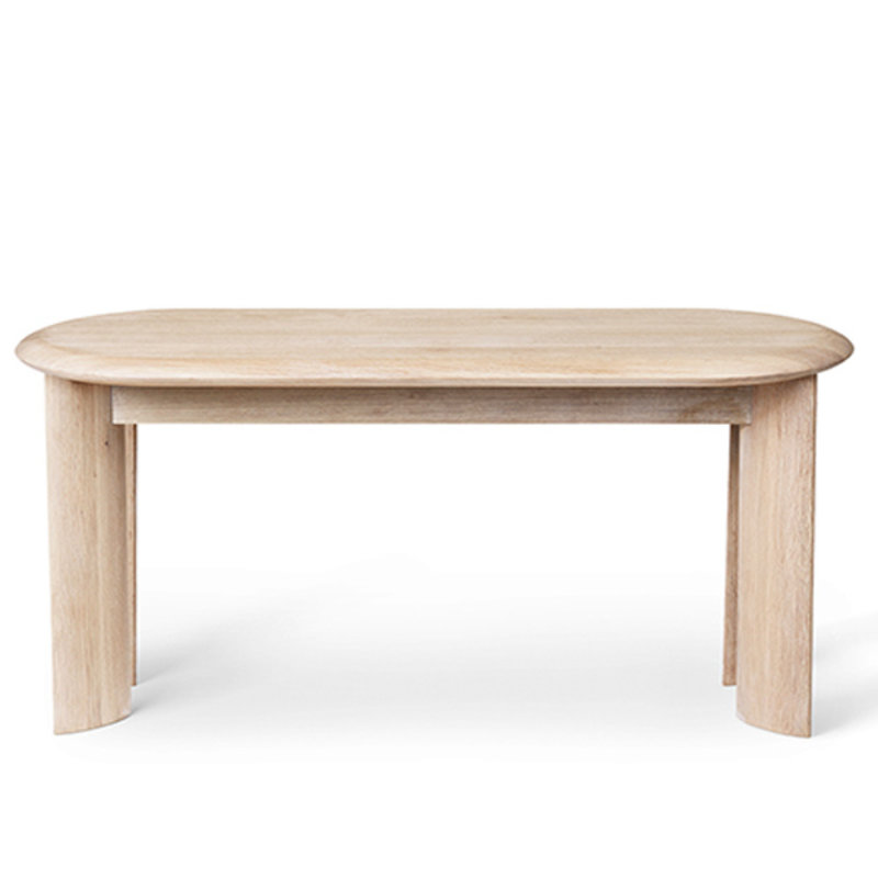 ferm LIVING-collectie Bevel Bench - White Oiled Oak