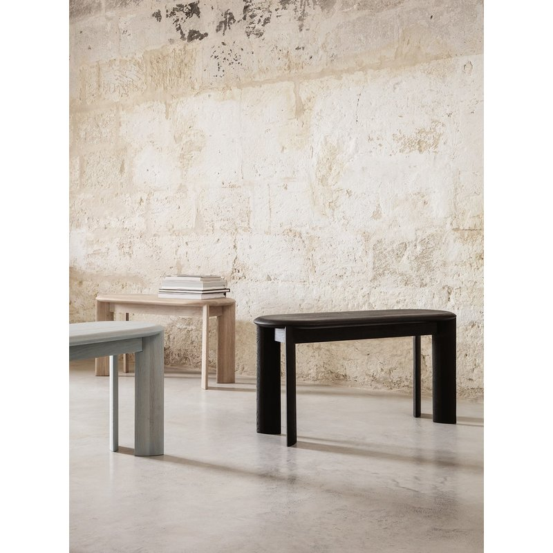 ferm LIVING-collectie Bevel Bench - Black Oiled Oak