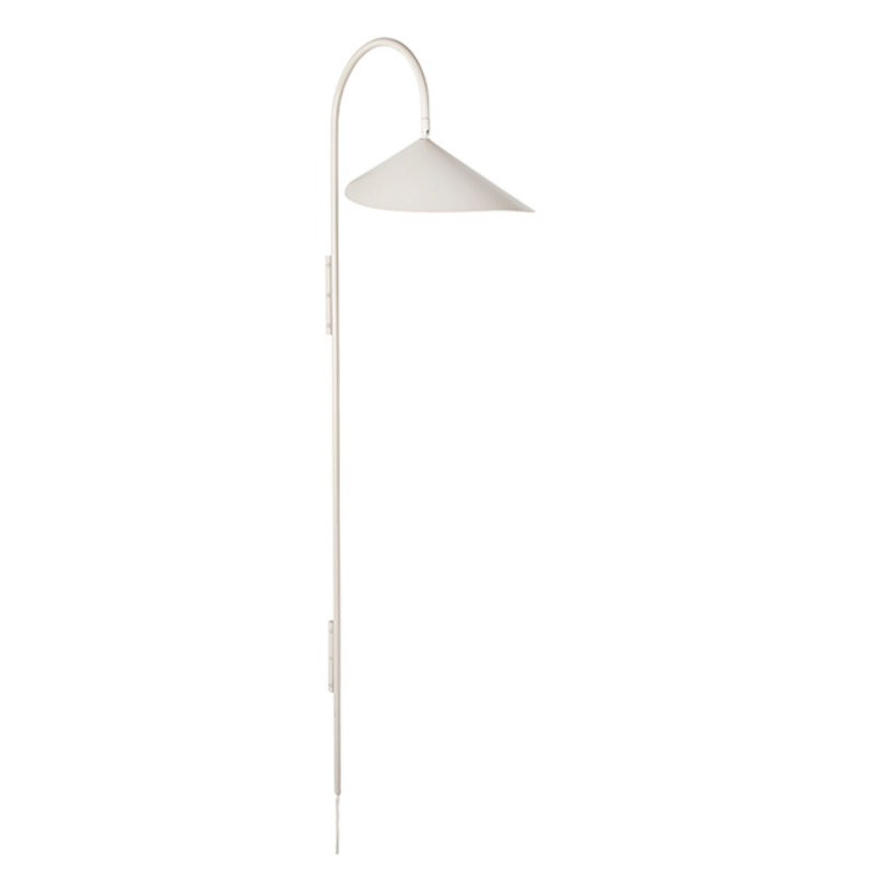 ferm LIVING-collectie Arum Tall Wall Lamp - Cashmere