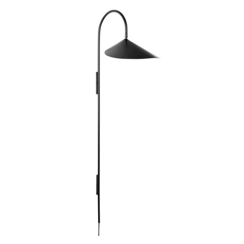 ferm LIVING-collectie Arum Tall Wall Lamp - Black