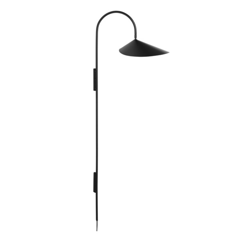 ferm LIVING-collectie Wandlamp Arum Tall zwart
