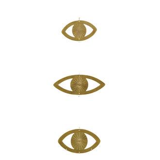 Madam Stoltz Hangornamet 3 ogen goud