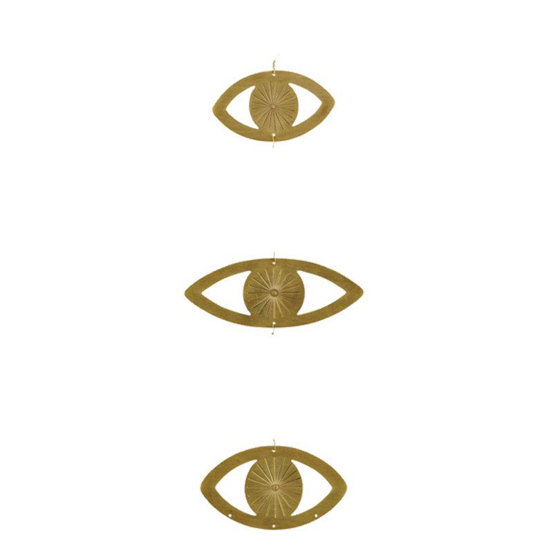 Madam Stoltz-collectie Hanging eye ornaments w/ wire
