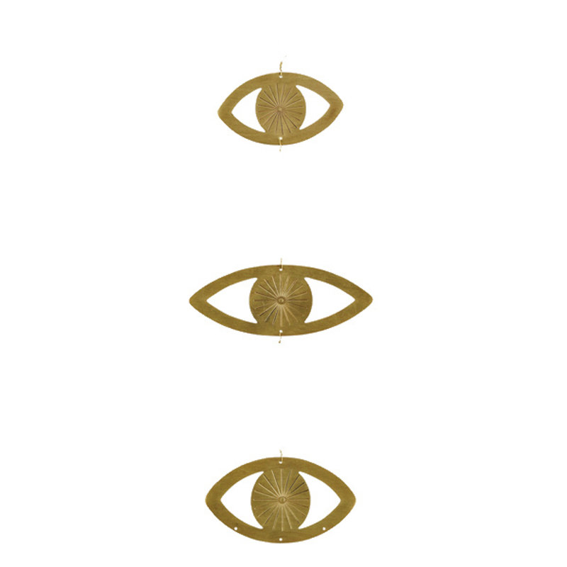 Madam Stoltz-collectie Hangornamet 3 ogen goud