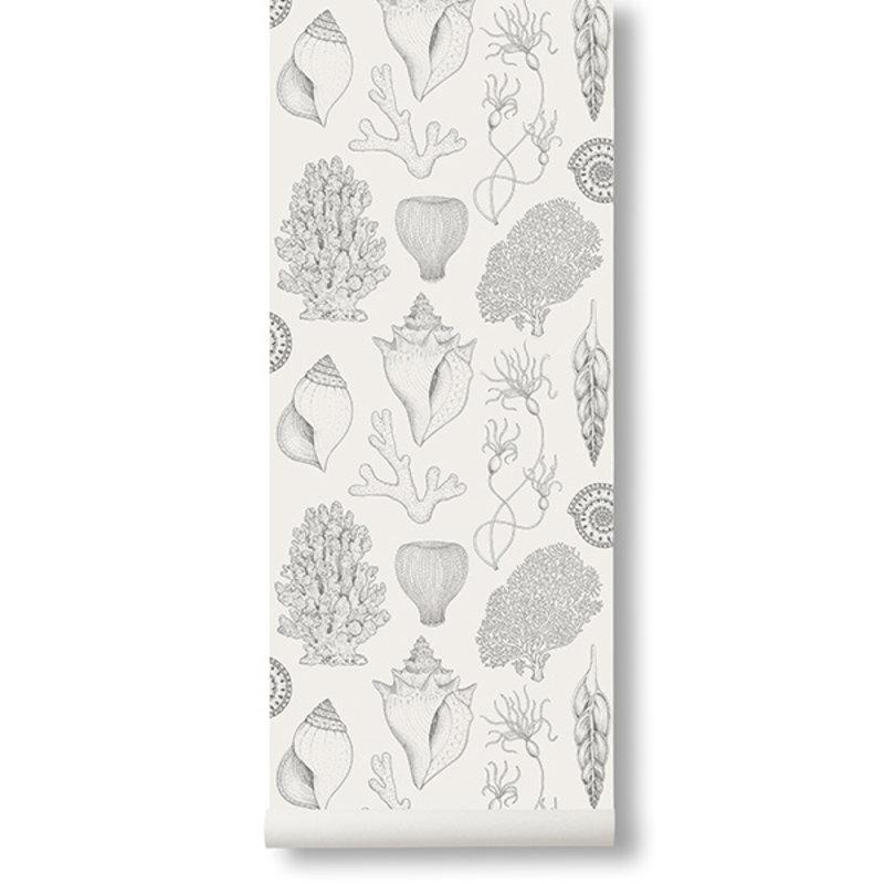 ferm LIVING-collectie Katie Scott Wallpaper - Shells  - Off-wh
