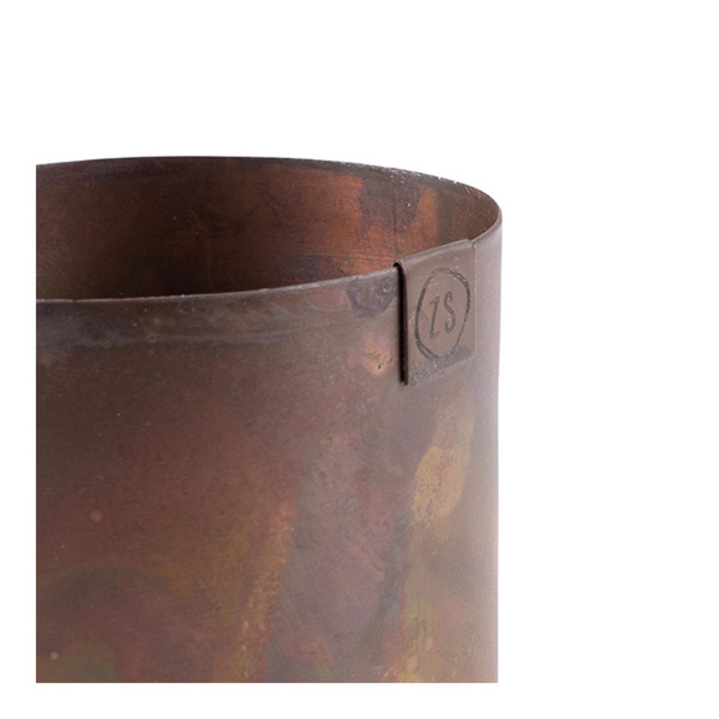 Zusss-collectie Pot metal copper 8 cm