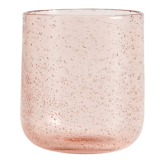 Nordal MAROC drinking glass, col. light pink
