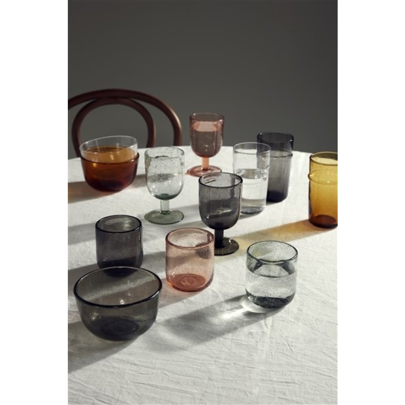 Nordal-collectie MAROC drinking glass, col. light pink