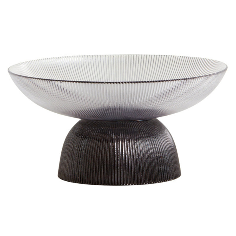 Nordal-collectie RIVA bowl w. base, col. black