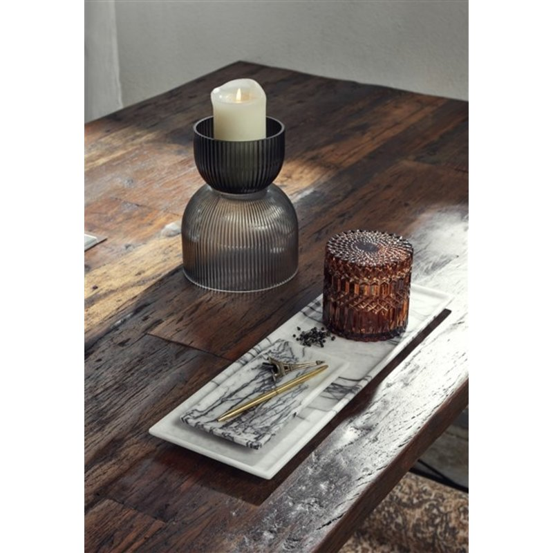 Nordal-collectie RIVA vase/candleholder, M, col. black