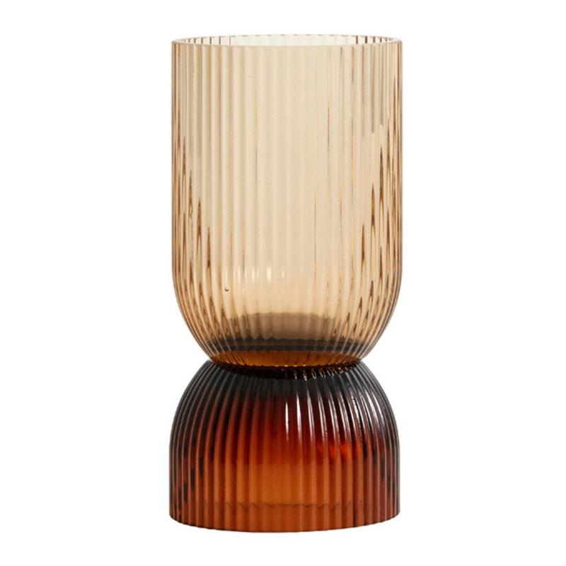 Nordal-collectie RIVA vaas - kandelaar bruin 18,5 cm
