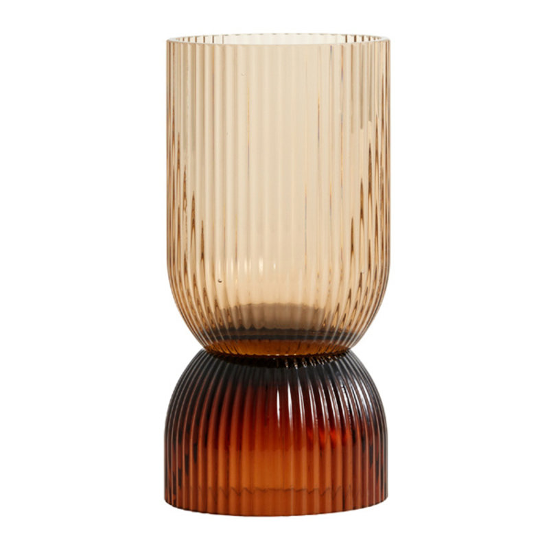 Nordal-collectie RIVA vase/candleholder, S, col. brown