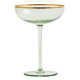 Nordal GREENA cocktail glass w. gold rim