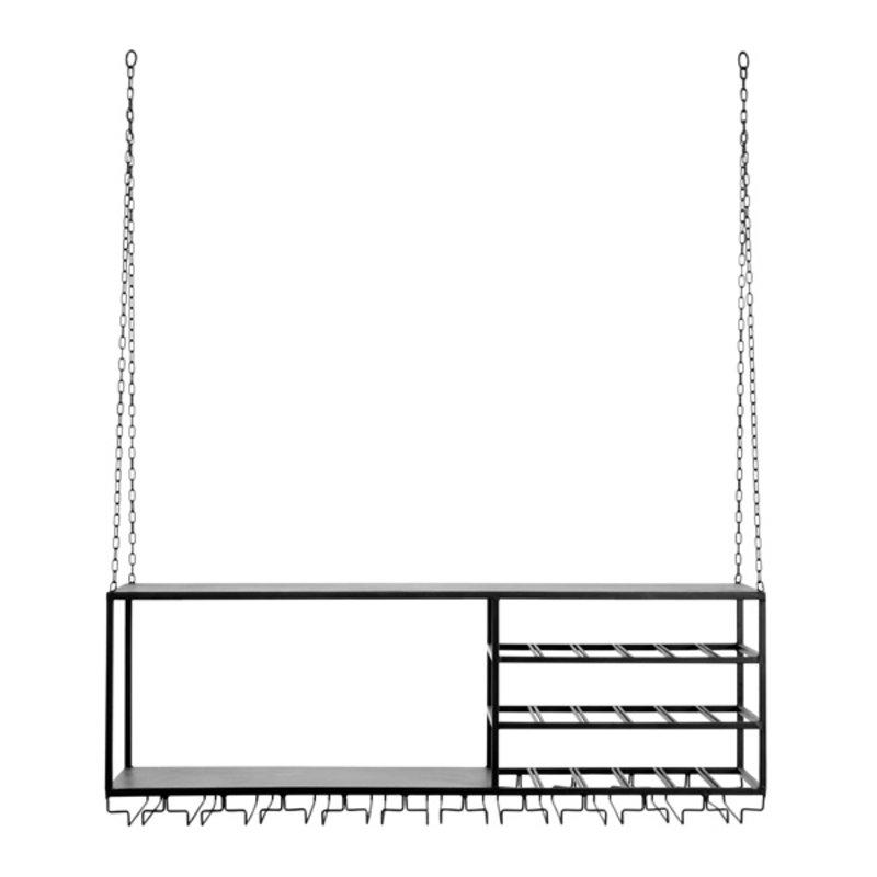 Nordal-collectie LOFT rack/shelf , col. black