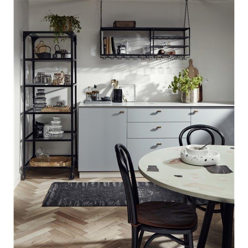 Nordal-collectie Keukenrek LOFT zwart L