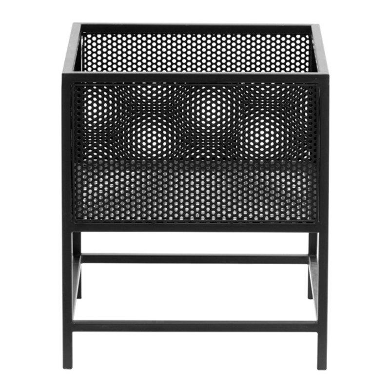 Nordal-collectie Plantenbak WIRA zwart 40x35x35 cm