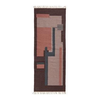 Nordal BLUSH woven rug, plum/rose/lavender