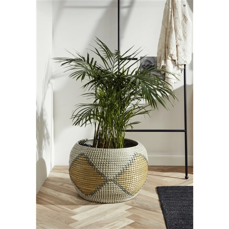 Nordal-collectie ILAY basket, col. nature/yellow/green