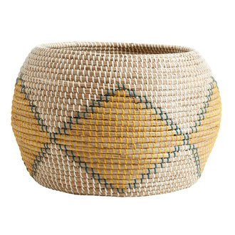 Nordal ILAY basket, col. nature/yellow/green