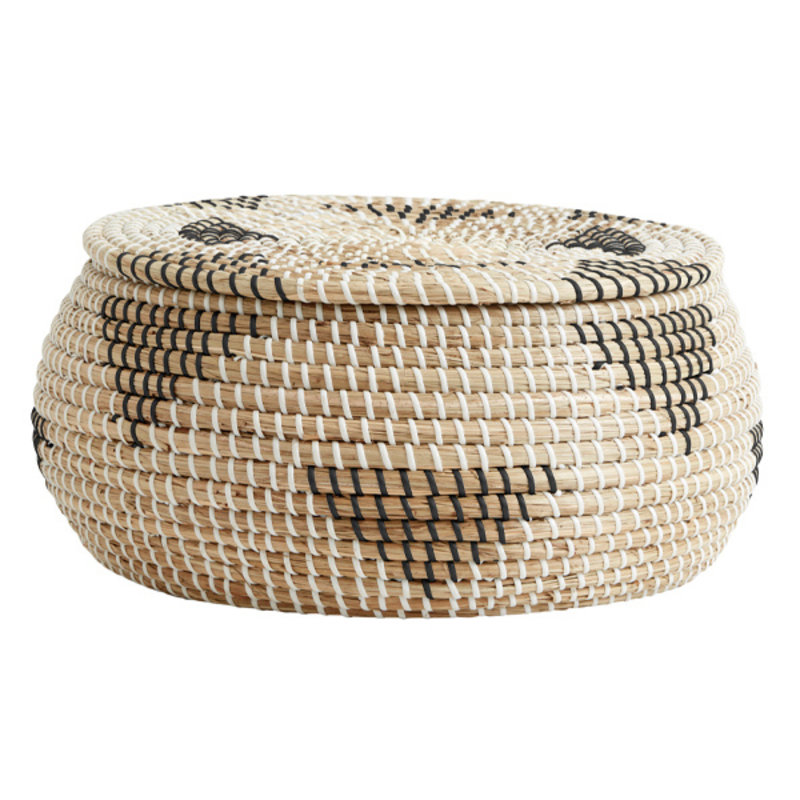 Nordal-collectie ROSEA basket, col. nature/black