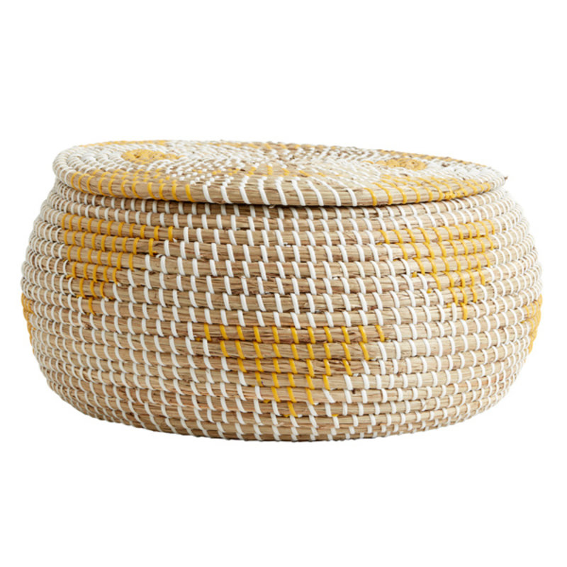 Nordal-collectie ROSEA basket, col. nature/yellow